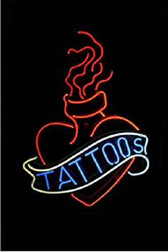 Tattoo Neon Sign 17''x14''Inches Bright Neon Light for Business Beauty Spa Salon Shop Store