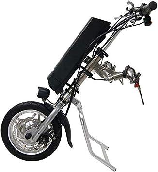 Mano de Rueda eléctrica de 36 V - Kit de conversión de Silla de Ruedas eléctrica de 250 W con batería de Iones de Litio de 9 Ah para Coche discapacitado