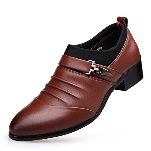 Men's Leather Leisure Tendon Shoes Dress Autumn Business Wedding Fashion Slip On Black-brown Brown cheap hot sale professional for sale free shipping hot sale outlet 2014 unisex official KkbdaqBdX