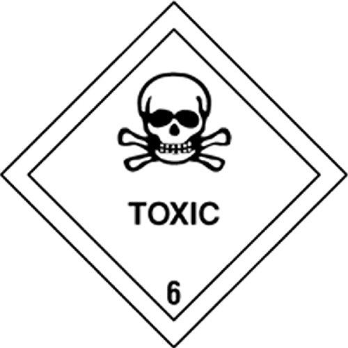 Juego 4 etiquetas de Señ alizació n IMDG-ADR Clase Clase 6.1: Toxic 300x300 DEPOSITO HIDROGRAFICO
