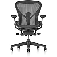 Herman Miller AER1B23DWALPG1G1G1BBBK23103 B Size Aeron Chair, Graphite