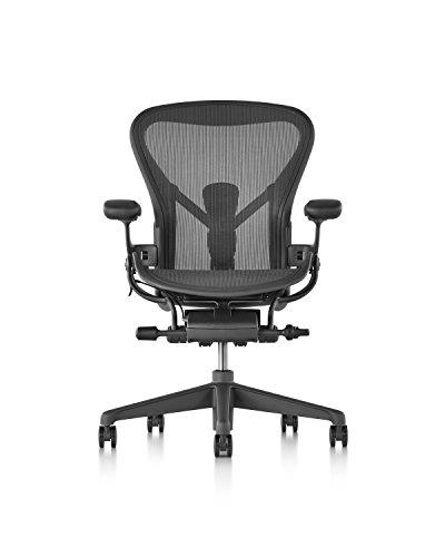 Herman Miller Aeron Chair, Size C, Graphite - AER1C23DWALPG1G1G1BBBK23103 ()