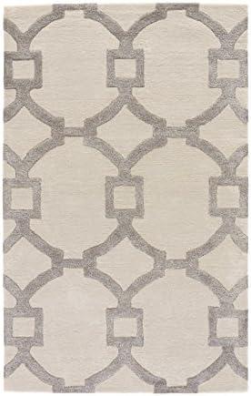 Jaipur Living Regency Hand-Tufted Trellis White Area Rug 5 X 8