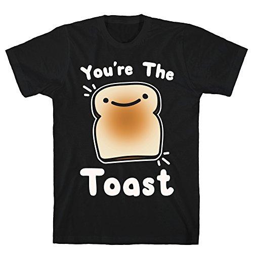 LookHUMAN You're The Toast (to My Avocado) White Print XL Black Men's Cotton Tee