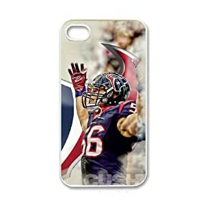 NFL iPhone 4 4s White Cell Phone Case Houston Texans PNXTWKHD1913 NFL Phone Case Fashion Personalized