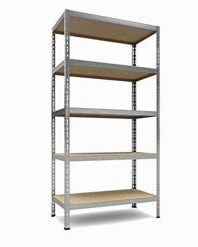 Industrial 5 Duty Shelf - TKT Heavy Duty Shelving 5-Shelf Shelving Unit, 1.925lbs Capacity, 36