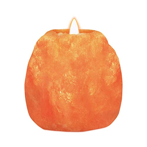 Himalayan Glow 3027 Natural Pink Salt Candle Holder