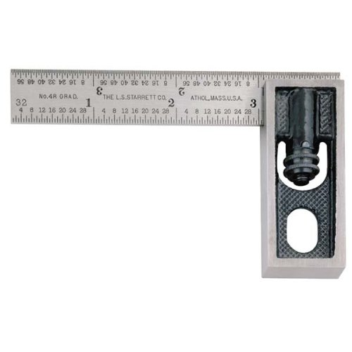 STARRETT Double Squares - Model: 13A Blade Length: 4'' Graduation: 4R Type of Reading: Inch
