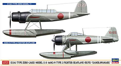 E13A1 TYPE ZERO (JAKE) MOD.11 & A6M2-N TYPE 2 (RUFE) KIT 1 72 - Hasegawa - Kit Aerei - Kit di Montaggio