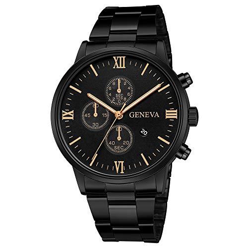 Mens Analog Quartz Watches Chronograph Stainless Steel Mitiy Luxury Brand Fashion Dress Business Wristwatch