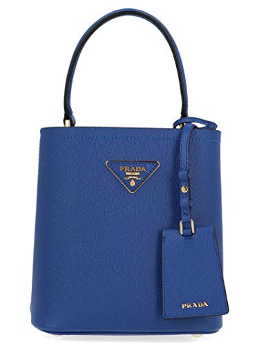 Prada Women's 1Ba217vooo2erxf0ozh Blue Leather Handbag