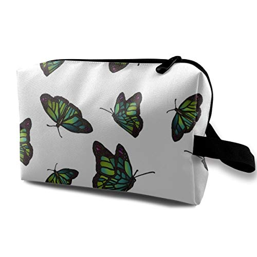 - Art Nouveau Butterflies_624 Toiletry Bag Cosmetic Bag Portable Makeup Pouch Travel Hanging Organizer Bag For Women girl 10x5x6.2 inch