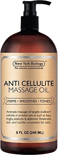 Anti Cellulite Treatment Massage Oil - All Natural Ingredients – Penetrates Skin 6x Deeper Than Ce