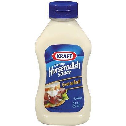 Kraft, Horseradish Sauce, 12oz Squeeze Bottle (Pack of 3) (Best Creamy Horseradish Sauce)