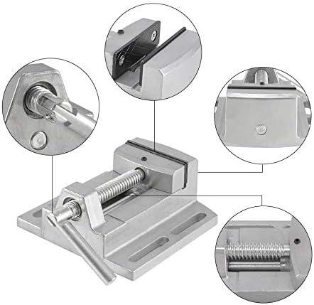 GENERICS LSB-Werkzeuge, Schraubstock DIY Flachzange Bohrmaschine 2,5 Zoll Aluminiumlegierung Flachklemme Holzbearbeitung Handwerkzeug for Fräsmaschine