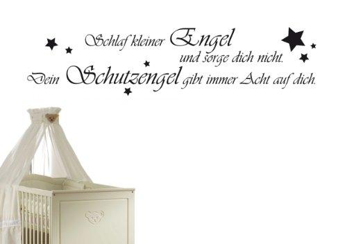 W1 116x28cm Violett Schlaf Kleiner Engel Und Sorge Dich Nicht Dein Schutzengel Gibt Immer Acht Auf Dich Wandtattoo Sprüche Zitate