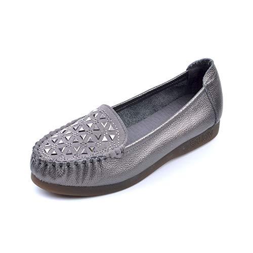 Casuales Rhinestone Cuero Las Ocasionales Inferior Los B Señoras De Cómodos Planos Parte Flyrcx Solos Trabajo Del La Zapatos wUqHHIS