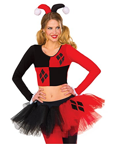 Rubie's Women's Top, Harley Quinn, Small/Medium
