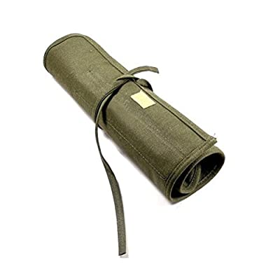 Tinksky Artist Paint Brush Roll Up Bag Holder Canvas Pouch (Green) by Tinksky
