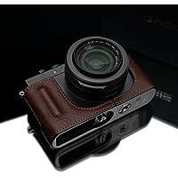 Gariz Genuine Leather HG-DLUXBR Camera Metal Half Case for Leica DLUX D-LUX (Typ 109), Brown