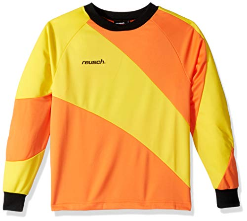 (Reusch Soccer Prisma Long Sleeve Goalkeeper Jersey, Orange/Yellow, Adult Medium)