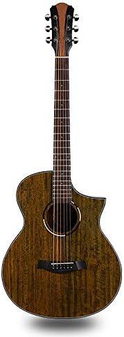 ギター フォークギター40インチウォルナットエントリレベルのフォークアコースティックギター6弦ギターとキッズジュニアギター (Color : Photo color, Size : 40 inch)