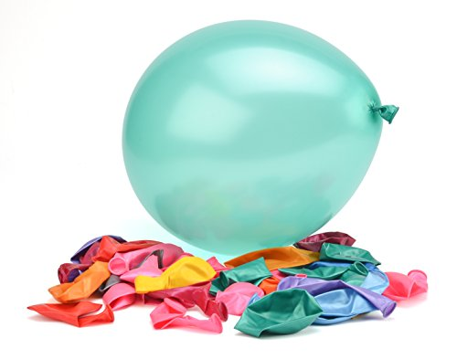 100 Premium Quality Balloons: 12 Inch Assorted Color Helium and Air Balloons for Birthdays and Events by Nexci -