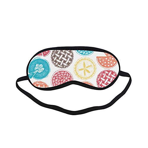 (All Polyester Apple Pie Food Dessert Delicious Baking Sleeping Eye Masks&Blindfold by Simple Health with Elastic Strap&Headband for Adult Girls Kids and for Home Travel)