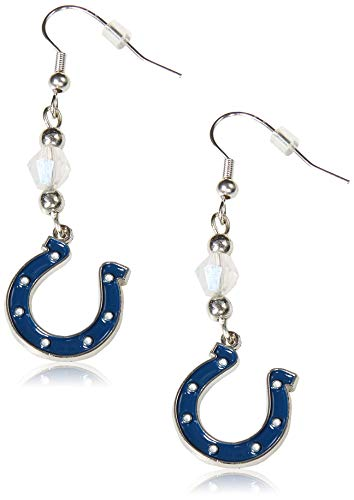 (Siskiyou NFL Indianapolis Colts Crystal Dangle Earrings)