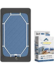 BED SCRUNCHIE Sheet Holder Straps - Heavy Duty Gripper Clips - Strengthened Parachute Cord - 360 Degree Bed Sheet Tightener - Strongest and Effective Extender - Ideal for All Mattress Sizes White