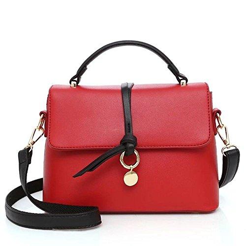 Casual Bag Wild Redblack Bag Ladies Portable Messenger Bag Leather Trend Bag Fashion Pu Female Simple Personality Bag Summer Bag Atmosphere Shoulder RxqHIwq