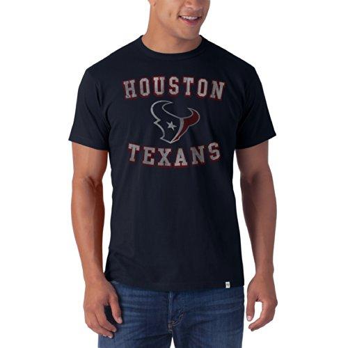 NFL Houston Texans Men's '47 Brand Knockaround Flanker Tee, Fall Navy, Medium