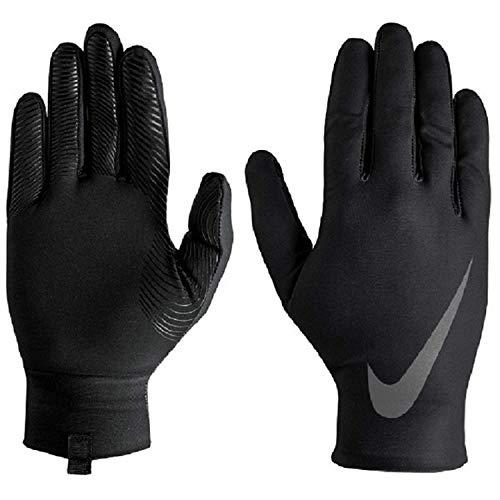 (Nike Men's Base Layer Gloves (Black/White,)