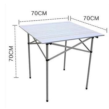 Xing Lin Mesa Al Aire Libre Piscina Mesa Plegable Portátil De Aluminio Ultra Ligero Picnic En