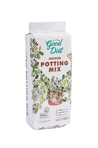 Good Dirt Indoor Potting Mix, 12 qts Compressed Bag, Chemical-Free with Organic-Based Nutrients & PlantBiotics Specifically Crafted for House Plants