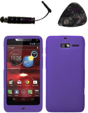 Funda para accesorios Motorola XT907 (Droid Razr M) sólido piel cubierta (Electric púrpura) diseño snap pantalla placa frontal y HiShop (TM) Stylus, púa de guitarra/herramienta de palanca: Amazon.es: Electrónica