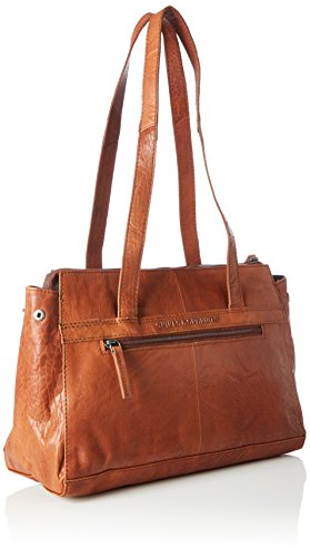 Spikes & Sparrow Zip Bag, Appendi borsa tascabili e ganci Donna Marrone (Brandy)