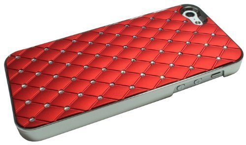 avci Base 4260310648651strass Bling Coque rigide pour Apple iPhone 5Rouge