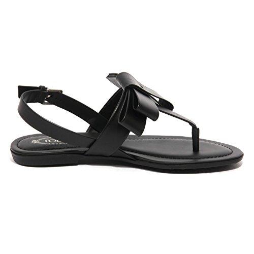 B1567 Sandalo Flip Donna Infradito Shoe Woman Tod's Fiocco Flops Nero wRqvwFr1