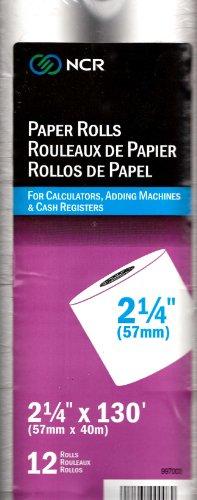 "NCR Paper Rolls 2 1/4"" X 130' 12 Rolls"