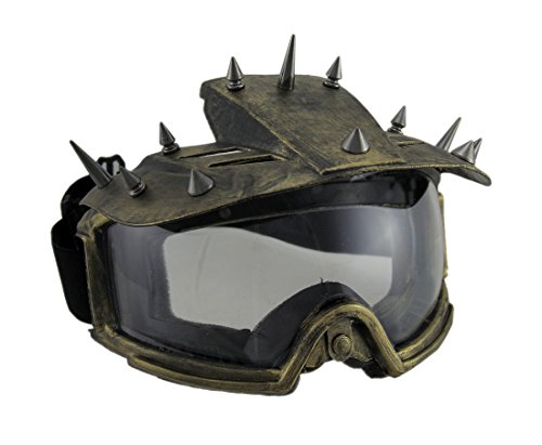 Zeckos Spiked Metallic Steampunk Padded Motorcycle Goggles