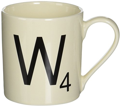 SCRABBLE Vintage Ceramic Letter W Tile Coffee Mug
