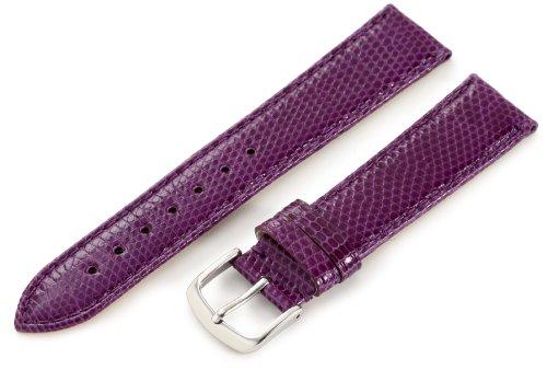 (Hadley-Roma Women's LSL715RP 180 18-mm Purple Genuine Java Lizard Watch)
