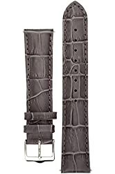 Signature Senator watch band. Replacement watch strap. Genuine Leather. Silver buckle. SALE 50%