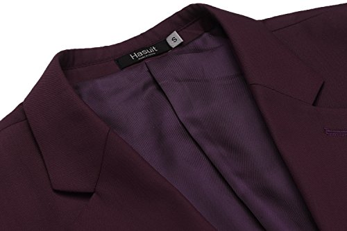 Hasuit Men's Casual One Button Slim Fit Stylish Blazer Coats Jackets Dress Suit by Hasuit (Image #4)