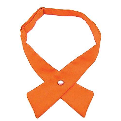(Tie for Men Women Adjustable Criss-Cross Bowtie School Uniform Pre Tied Bows for Girls Neck Tie Accessories Bowtie03 (Orange))