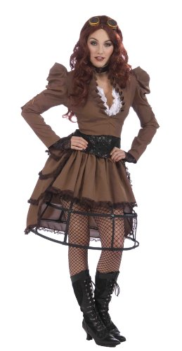 Forum Steampunk Vickie Complete Costume Brown Two Skirts