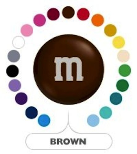 M&M's Brown Milk Chocolate Candy 1LB Bag