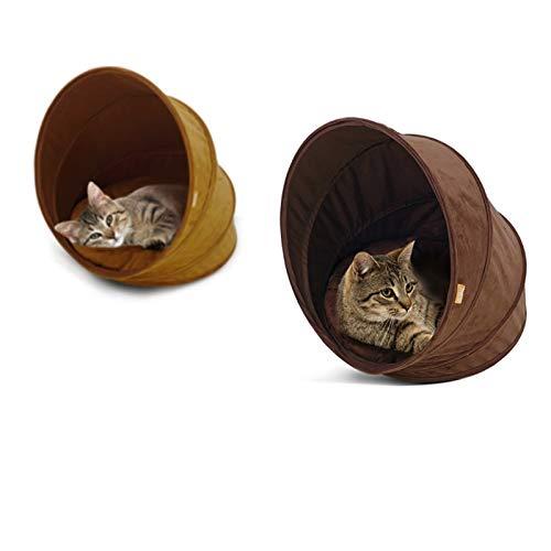 TECHUANG Tenda da Gatto Gatto Gatto Calda in Pelle Scamosciata Tenda da Gatto Calda con Cuscino Cat Toy per Una Facile memorizzazione e Piegatura, Design a Spirale (colore   A) d30fc9