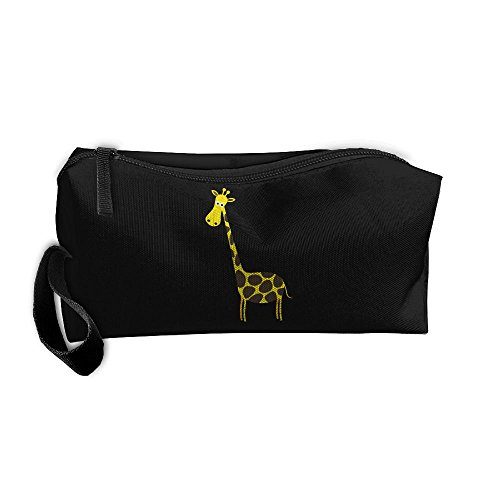 Cosmetic Bags With Zipper Makeup Bag Giraffe Animal.Png Middle Wallet Hangbag Wristlet Holder ()